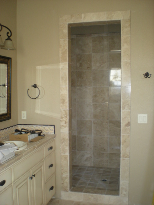 Bathroom Custom Framed Shower Door Tile
