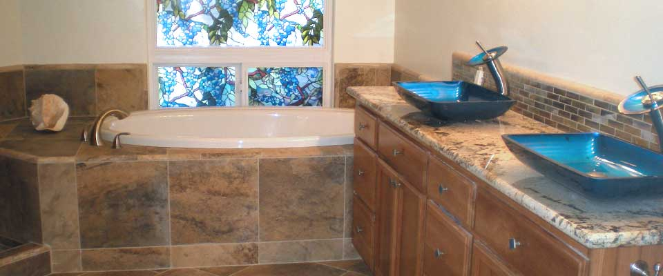 Redding California custom tile, marble, granite, bathrooms and more by EC Tile