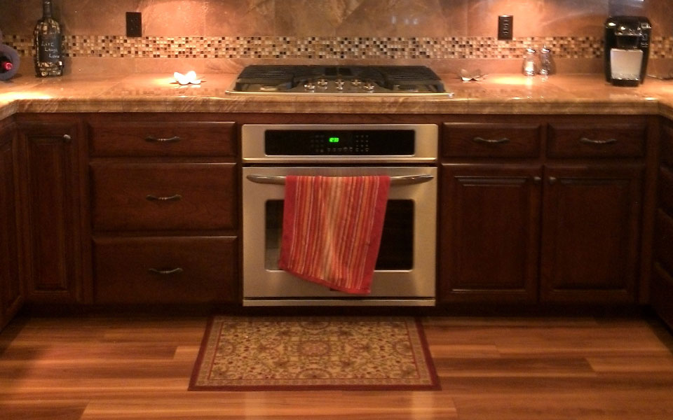 Kitchen Tile Accent Backsplash Faux Marble In Redding960
