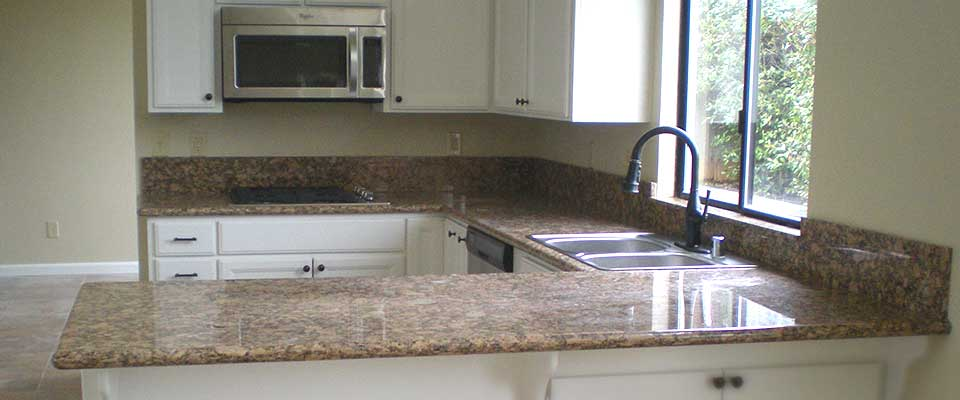 Granite Slab Counter Tops in Redding California by EC Tile