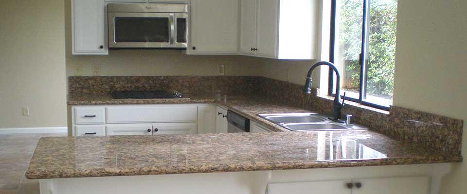 Granite Slab Counter Tops in Redding California by EC Tile