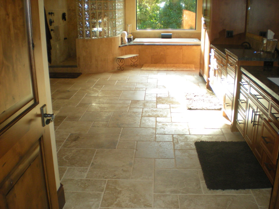 Travertine Tile Custom Bathroom In Redding Redding Ca